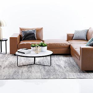 现代沙发边几茶几模型