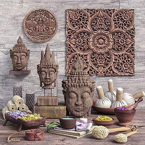东南亚佛像雕塑陈设品模型
