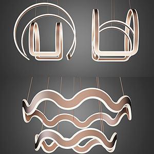艺术吊灯组合3d模型