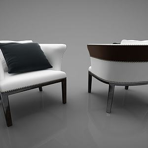 现代皮革沙发模型
