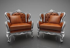 欧式单人沙发模型3d模型