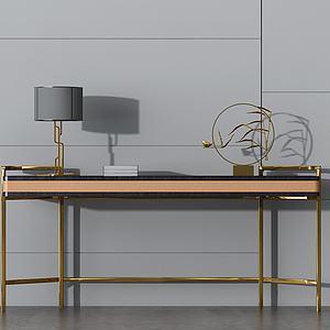 现代金属创意边桌模型
