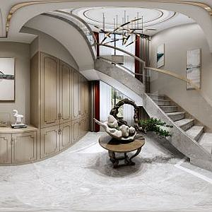 現代別墅樓梯模型3d模型