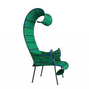 现代创意编织单椅模型