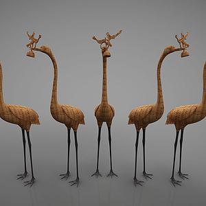 藤编动物摆件模型
