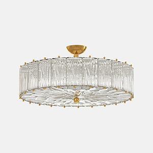 现代水晶吸顶灯模型