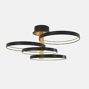 金属创意吸顶灯3d模型