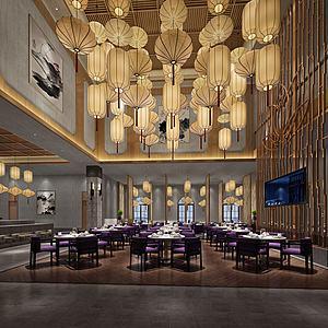 古典中式餐厅模型3d模型