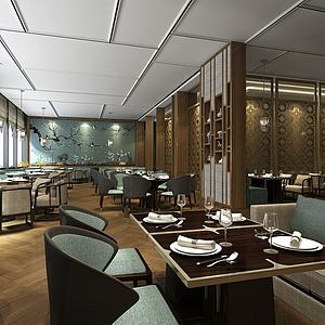 餐厅餐馆空间模型3d模型