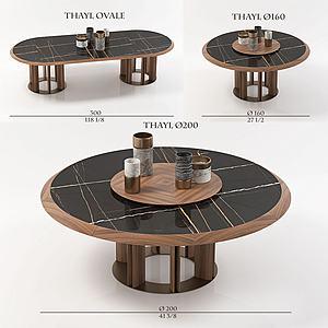 现代茶几模型
