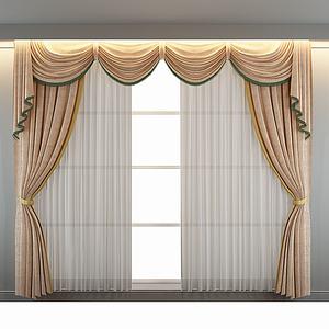 欧式窗帘模型