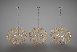创意金属吊灯模型3d模型