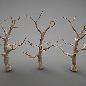 现代树枝装饰品模型