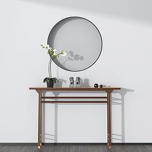 现代简约边桌模型