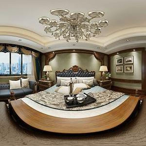 欧式风格卧室模型3d模型