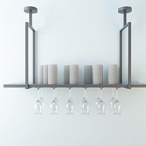 创意酒杯架模型