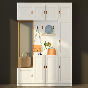 玄关边柜衣柜模型