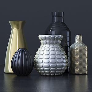 花瓶组合模型