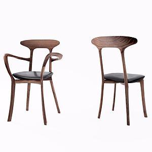实木椅子模型