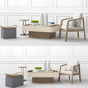 创意茶几单椅?#39318;?#32452;合模型