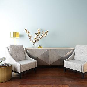 边柜沙发组合模型