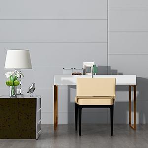 现代玄关边柜单椅模型3d模型