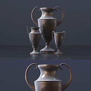 现代花瓶组合模型