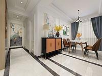 現代簡約餐廳走廊3d模型