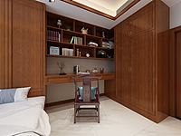 中式榻榻米臥室3d模型