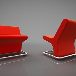 创意沙发组合模型