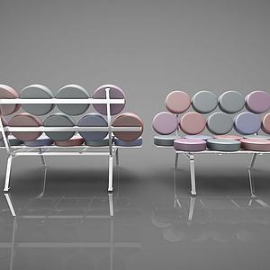 现代创意靠背椅子模型