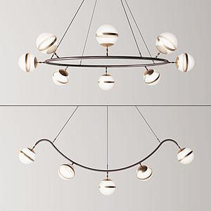 创意吊灯组合3d模型