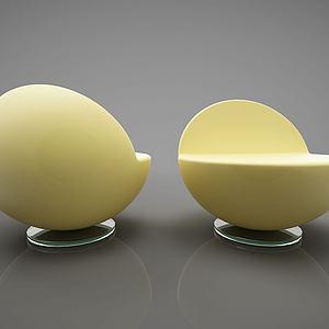 现代创意单人沙发模型