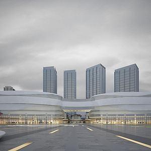 现代建筑创意办公楼模型