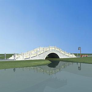 中式石拱桥模型