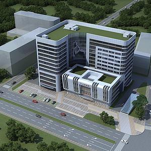 医院办公楼模型3d模型