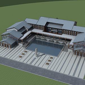 新中式酒店模型3d模型
