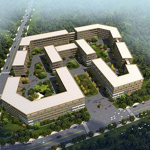 厂区景观3d模型