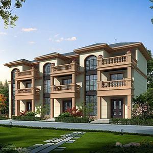 排屋住宅楼房3d模型