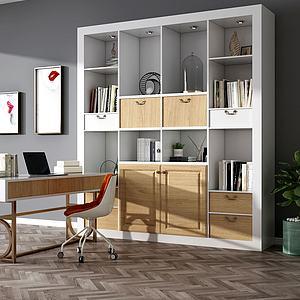 ?#30340;?#20070;柜桌椅组合模型3d模型