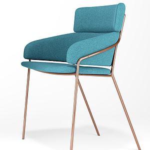 现代靠背椅子模型