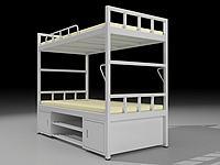 學生上下床3d模型