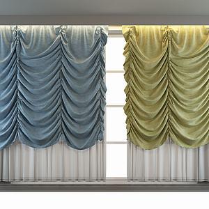 布艺窗帘模型3d模型