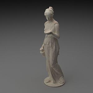 人物雕塑摆件模型