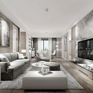 別墅客廳模型3d模型