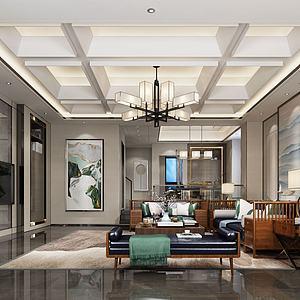 別墅豪華客廳模型3d模型