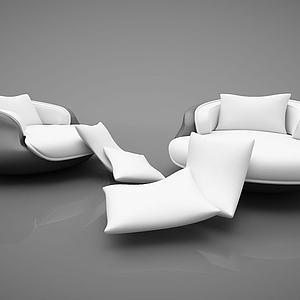现代创意休闲沙发模型
