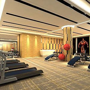 现代健身房模型3d模型