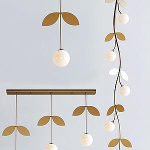 树叶吊灯模型