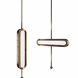 金属吊灯模型